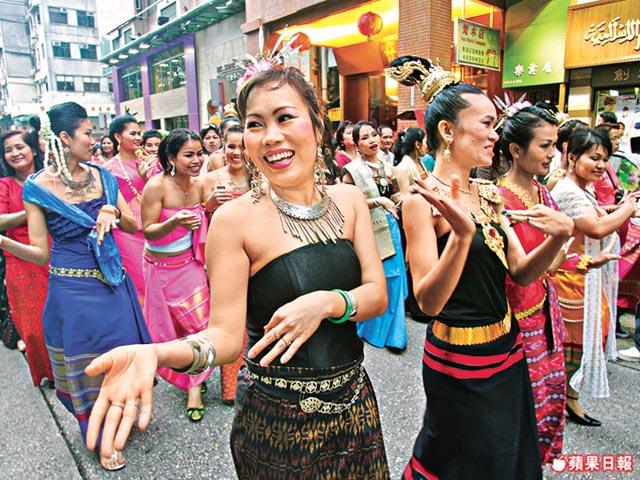 泰國人在九龍城(來源:hk.apple.nextmedia.com)